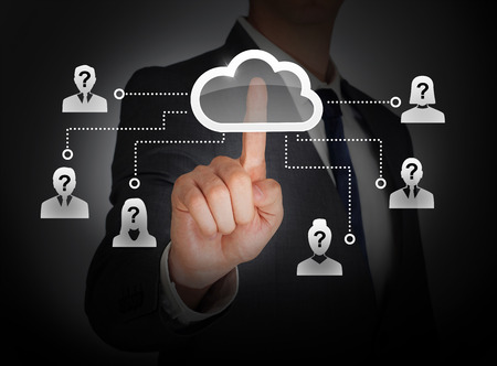 Cloud computing social network photo