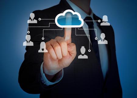 Cloud computing virtual screen photo