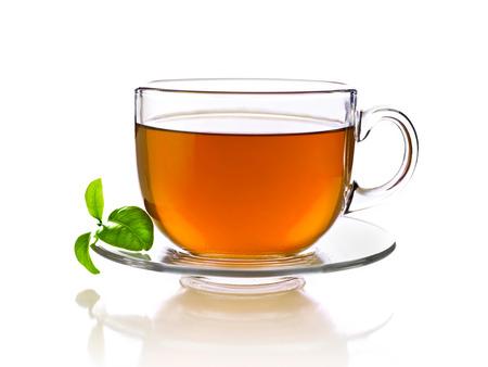 tazza di te: Tazza di tè, isolato su bianco Archivio Fotografico