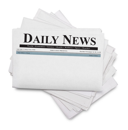 Daily news newspaper isolated on white
