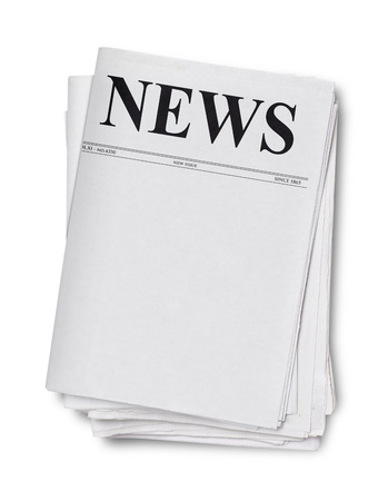 printout: Newspaper isolated on white