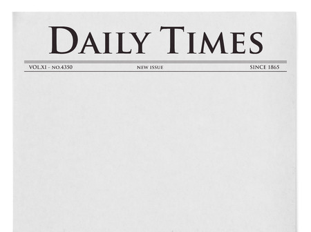 Daily times title on newspaper
