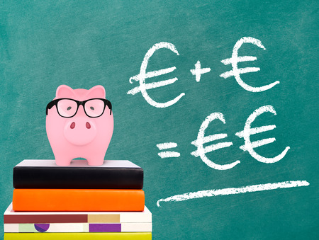 Piggy Bank with savings formula photo