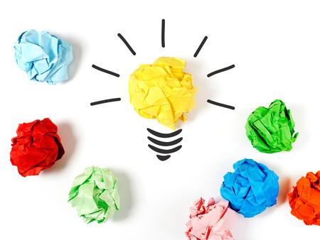 crumpled paper ball: Ideea concept Stock Photo