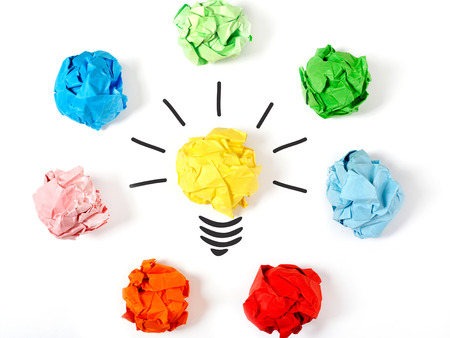 crumpled paper ball: Choose the best ideea