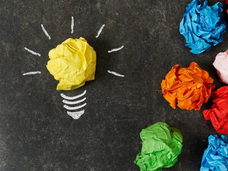crumpled paper ball: Choosing the best ideea