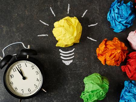 crumpled paper ball: The saving ideea