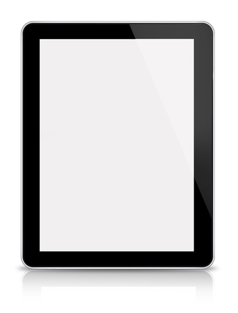 Digital tablet-front view on white backgroun
