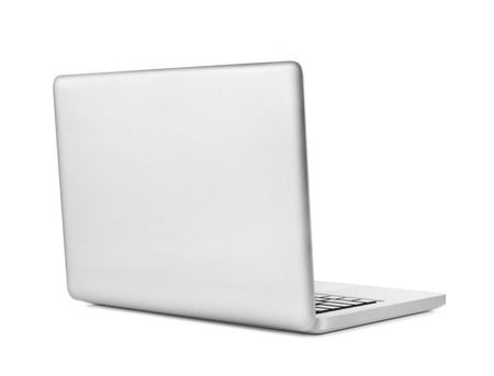 of back: Laptop - back view Stock Photo