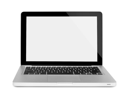 Laptop on white background