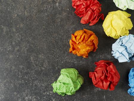 multicolored: Multi-colored paper balls Stock Photo