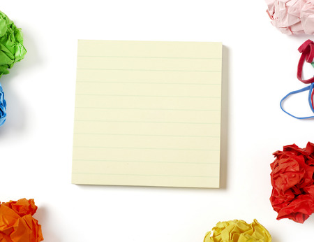 adhesive  note: Adhesive note on desk Stock Photo