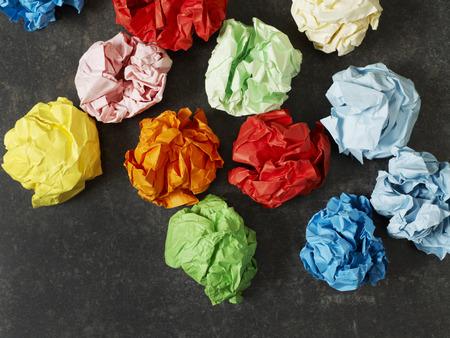 colored paper: Multi-colored paper balls Stock Photo