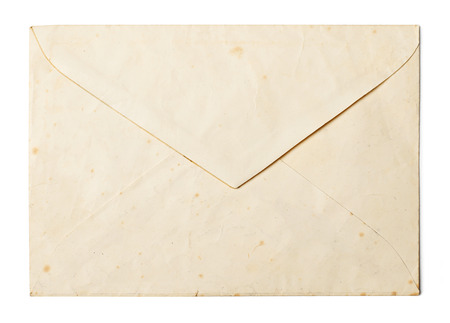 letter envelope: Vintage envelope on white background Stock Photo