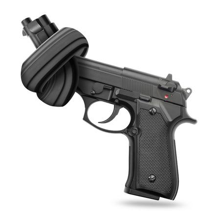 no war: Handgun with knot