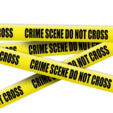 crime scene tape: Crime scene tape on white background