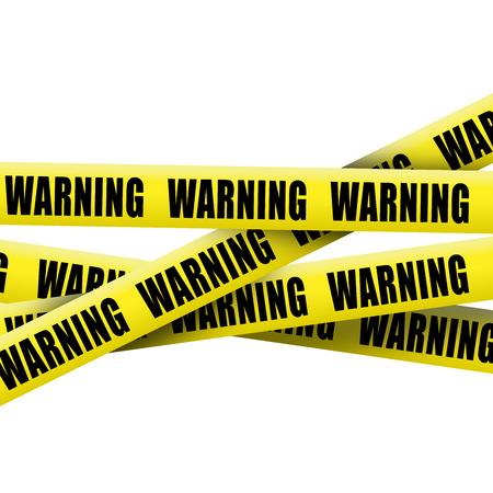 Warning tape on white background