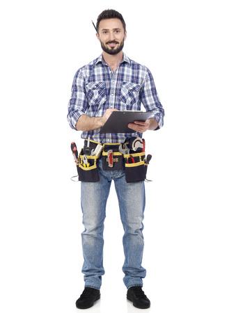 work tools: Manitas con portapapeles