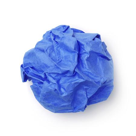 Boule de papier bleu