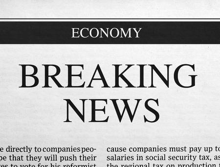 news paper: Breaking news headline