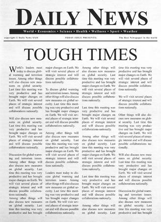 tough: Tough times headline