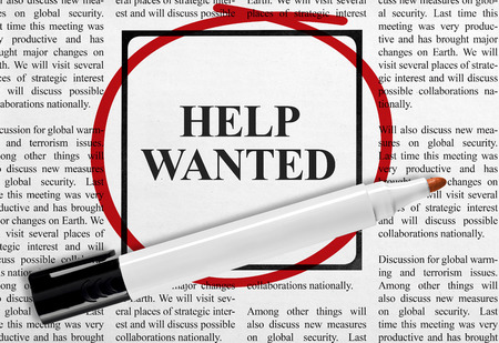 wanted: Help wanted Stock Photo