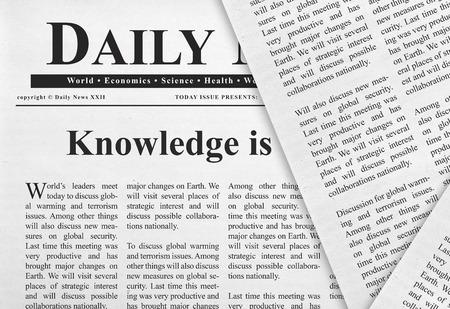 headline: Knowledge headline Stock Photo
