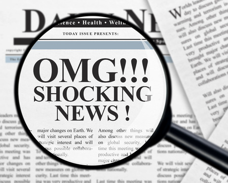 Shocking news headline photo