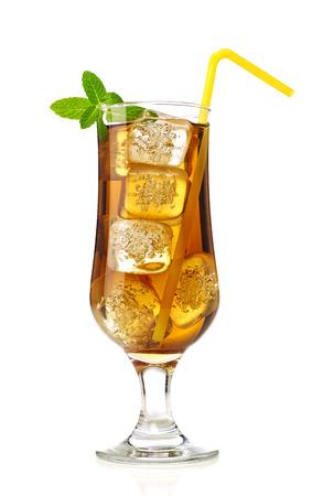 Ice tea with mint