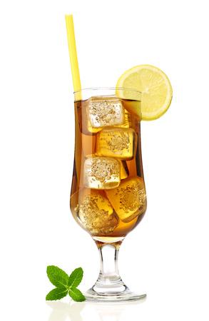 ice lemon tea: Ice tea with lemon