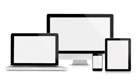 the computer monitor: Computer monitor, laptop, tablet and mobile phone
