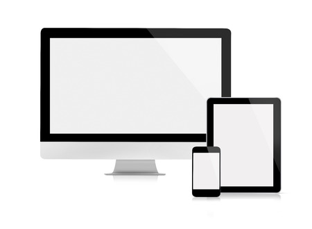 the computer monitor: Computer monitor, tablet and mobile phone