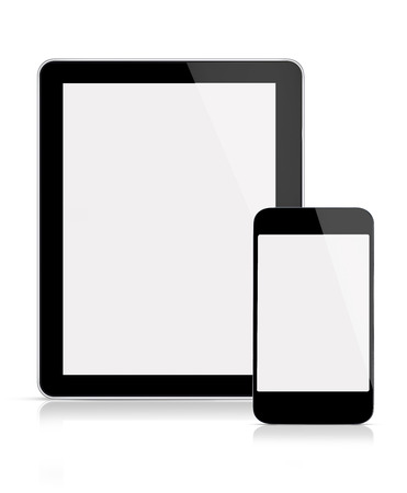 Tablet and mobile phone