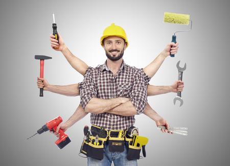 werkzeug: Heimwerker mit Werkzeugen Lizenzfreie Bilder