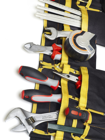 toolbelt: Toolbelt with tools Stock Photo