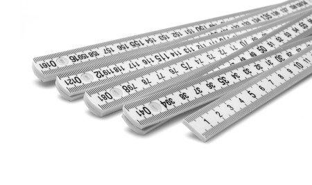 home addition: Ruler close-up Stock Photo
