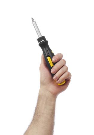 class maintenance: Hand with screwdriver