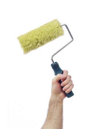 class maintenance: Hand with paint roller