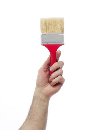 class maintenance: Hand with paintbrush