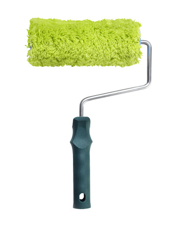 paint roller: Paint roller on white background Stock Photo