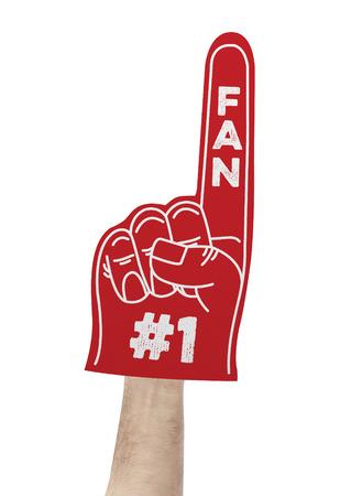 dedos: Número 1 ventilador de espuma mano