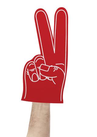 foam hand: Victory foam hand