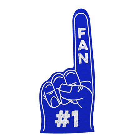 1: Number 1 foam hand Stock Photo