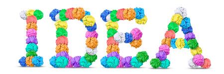 colored paper: Idea Stock Photo