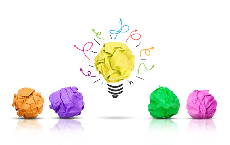 lluvia de ideas: Concepto de lluvia de ideas Foto de archivo
