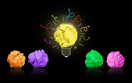 think out of the box: Brainstorming Stock Photo
