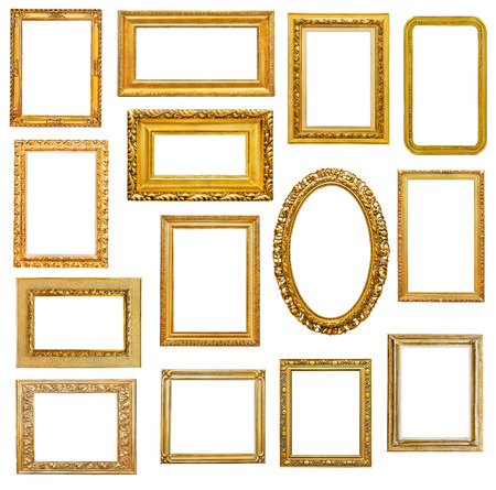 gold picture frame: Golden picture frames