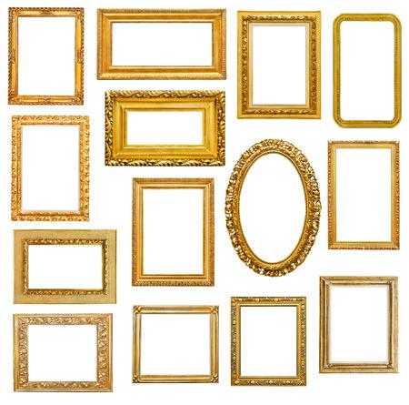 marco madera: Marcos de oro