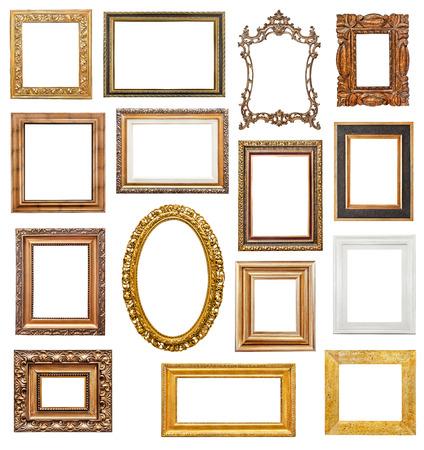 Old picture frames Banque d'images