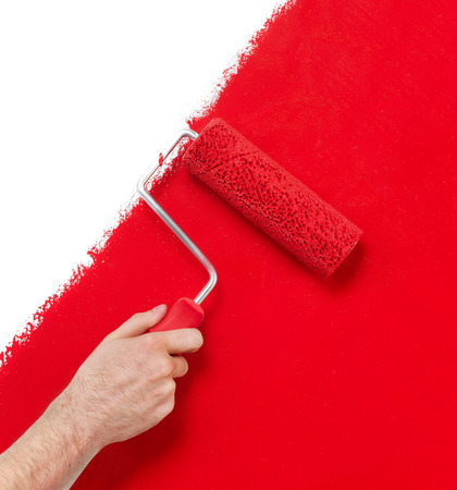 painting decorating: Painting the wall